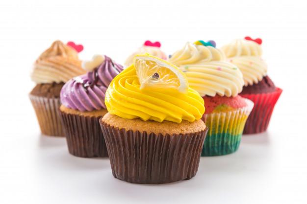 cupcakes con crema topping